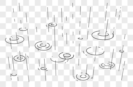 下雨雨滴图片
