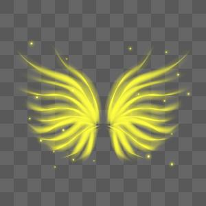 梦幻抽象黄色翅膀图片