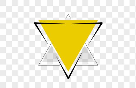 创意黄色三角形对话框设计图片