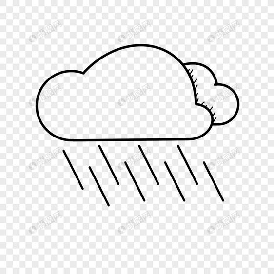 下大雨的云朵图片
