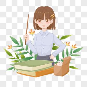 绿色温馨精致人头像教师节老师辛苦了图片