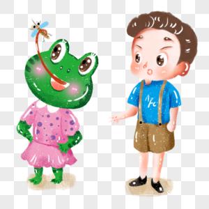 青蛙之吃虫子图片