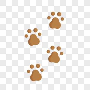 小狗爪印图片