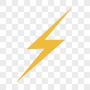 黄色闪电图标图片