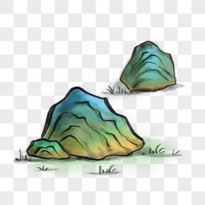 中国风写意石头图片