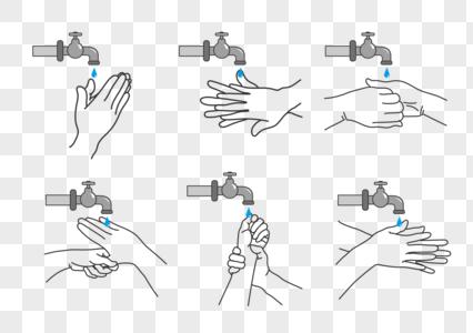 公共洗手步骤图片