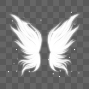 梦幻抽象白色翅膀图片
