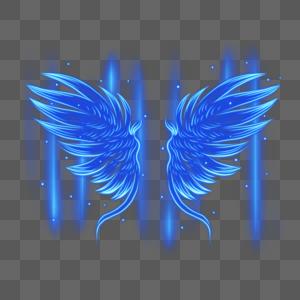 科技光感蓝色翅膀图片
