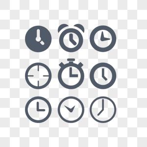 扁平风格时钟图标app网页图标元素图片