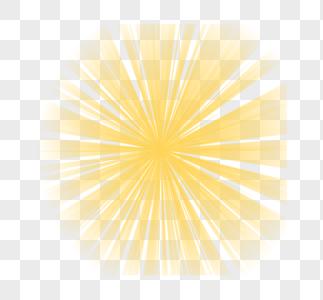 金黄色圆形旋转放射光效图片