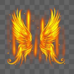 光感火焰翅膀图片