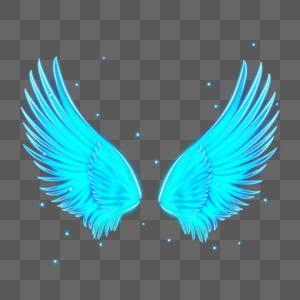 梦幻光感抽象翅膀图片