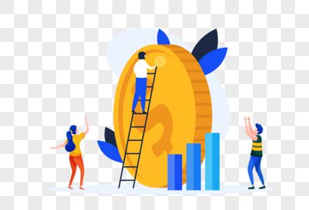 金融理财商务插画图片