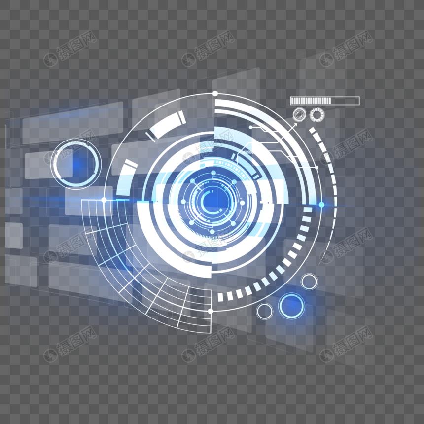 蓝色圆形科技背景图片