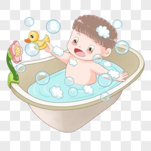 小宝宝洗澡图片