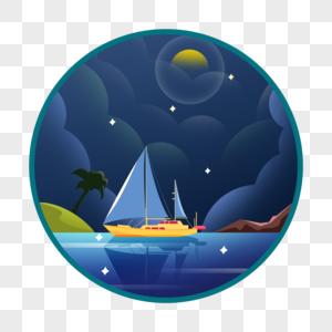 夜晚的码头图片