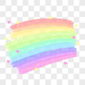 可商用彩虹文字框图片