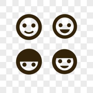 卡通笑脸图标表情图标元素图片