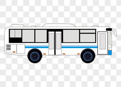 手绘大巴汽车矢量图素材图片