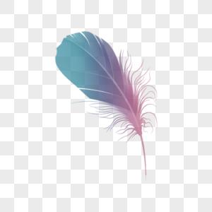 羽毛元素图片