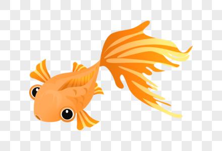 卡通大尾巴鱼图片