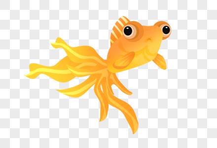 大尾巴卡通鱼图片