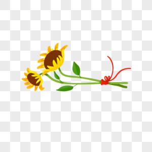 一束向日葵图片