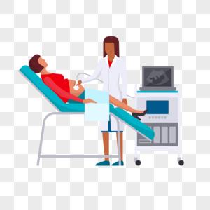 医生孕前检查元素图片