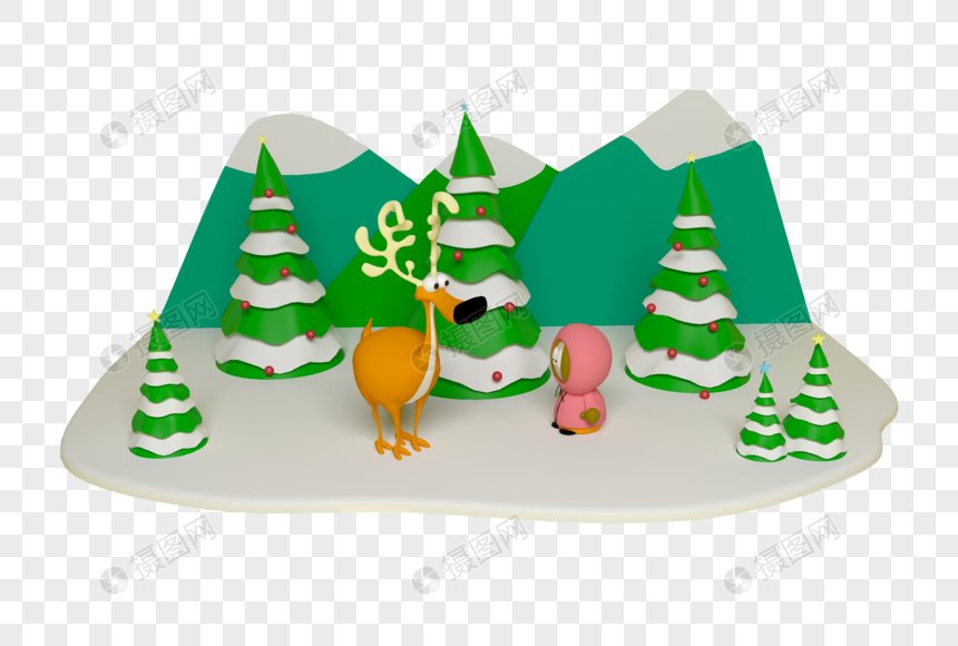 麋鹿圣诞节图片