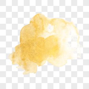 金色金箔水墨印迹素材图片