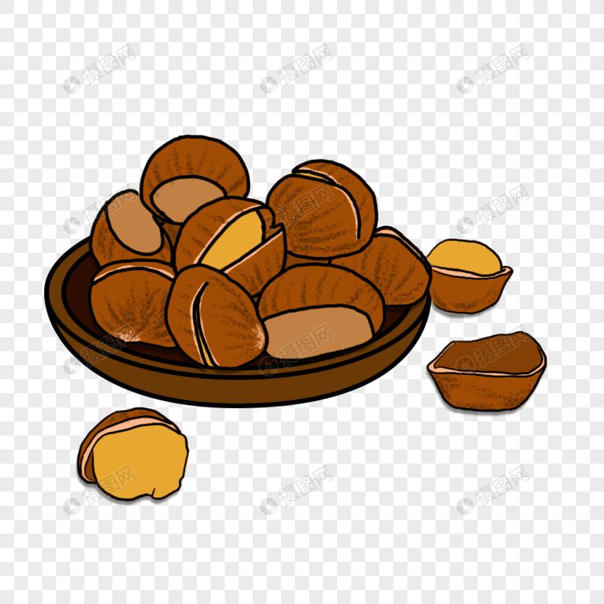 糖炒栗子元素图片