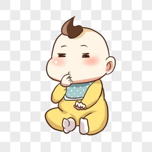 吃手指的宝宝图片
