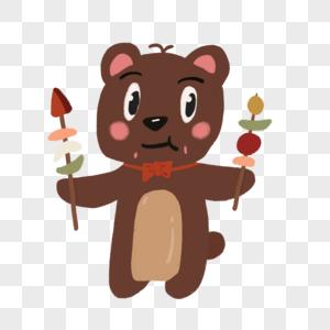 吃烧烤的小熊图片