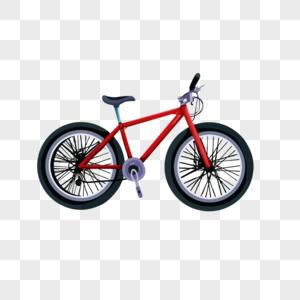 红色儿童自行车卡通元素图片