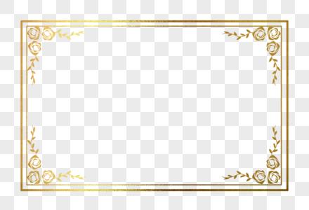 烫金花纹边框图片