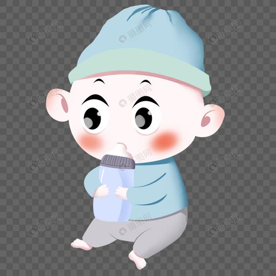 小婴儿吃奶图片