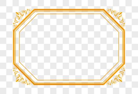 金色花纹欧式边框图片