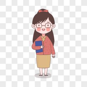 抱着书的可爱女老师图片