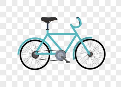 手绘卡通自行车扁平化矢量图素材图片