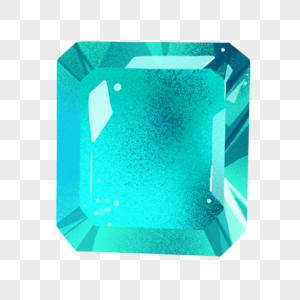 薄荷绿方钻石图片