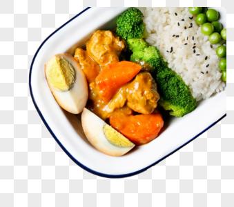 咖喱鸡肉便当图片