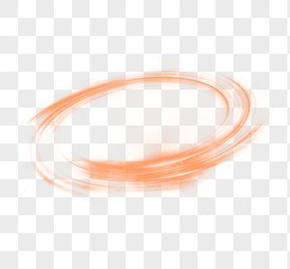 橙色渐变光圈效果元素图片