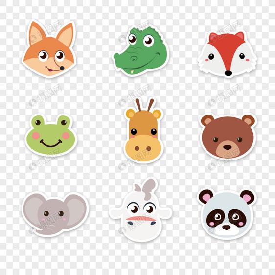 卡通动物头像图片