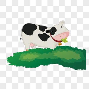 牛吃草图片