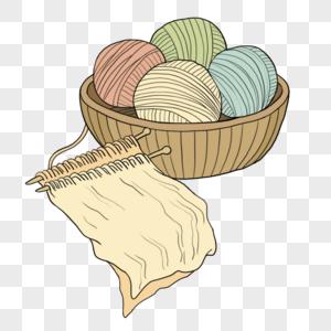 卡通毛线球图片