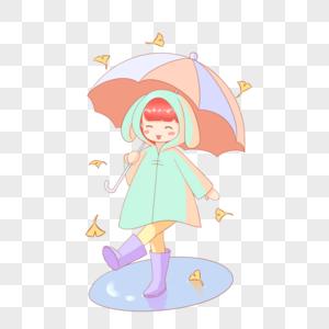 小女孩打伞图片