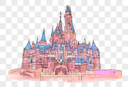 手绘城堡图片
