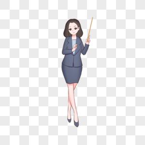 教师节女教师插画图片