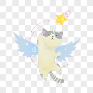 翅膀猫图片