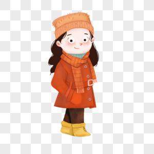 穿大衣的女孩图片